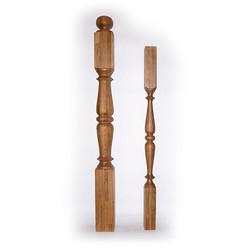 Ампир-N88 балясина из дуба 60 х 60 мм для деревянных лестниц