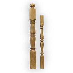 Ампир-N44 балясина из дуба 60 х 60 мм для деревянных лестниц