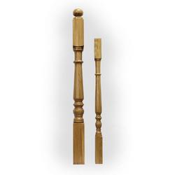 Ампир-N222 столб из дуба 100 х 100 мм для деревянных лестниц и ограждений