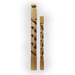 Кен-N734 столб из дуба 100 х 100 мм для деревянных лестниц