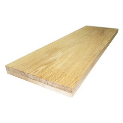 Цельноламельный мебельный щит из дуба высшего сорта (AB) 2000х620х50 мм