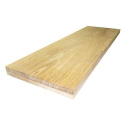 Цельноламельный мебельный щит из дуба первого сорта (BC) 2000х620х50 мм