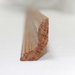 Ласточкин хвост - плинтус из ясеня 48х30 мм
