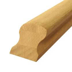 Поручень из дуба 62х45 мм для лестниц
