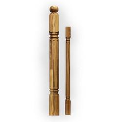 Кен-N755 столб из дуба 100 х 100 мм для деревянных лестниц